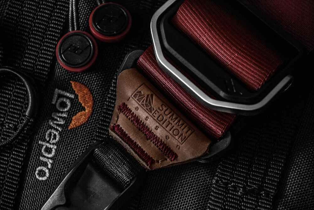 black lowepro belt