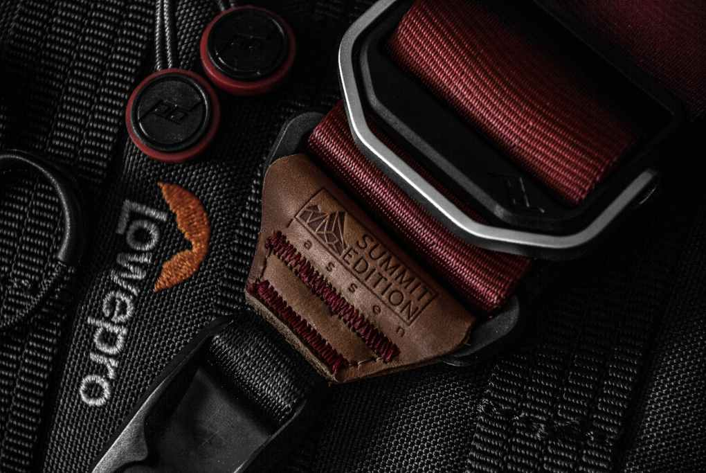 black lowepro belt